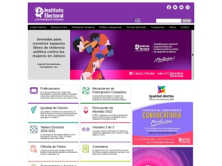 Captura de pantalla para iepcjalisco.org.mx