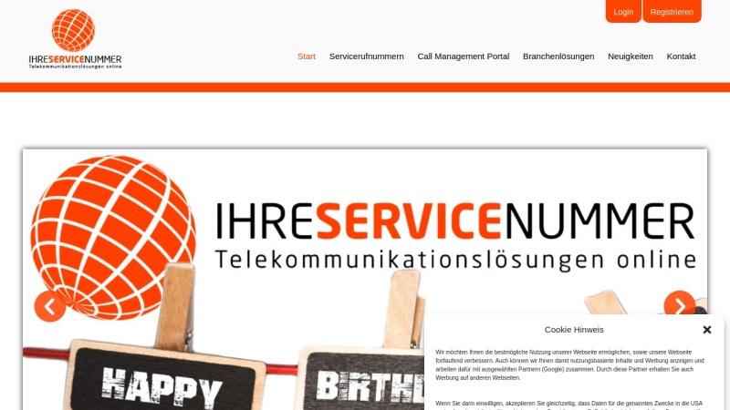 www.ihreservicenummer.de Vorschau, QuestNet GmbH, Wolfgang Hutter