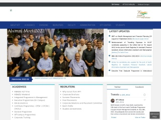 Screenshot for iift.ac.in
