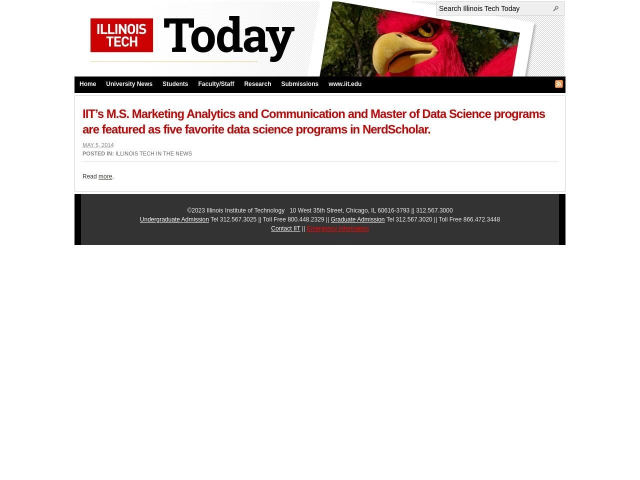 IIT's M.S. Marketing Analytics and Communication and …