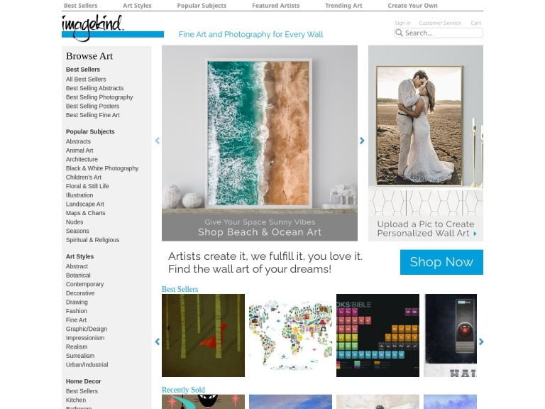 Imagekind - Print, Posters, Canvas And Framed Wall Art screenshot