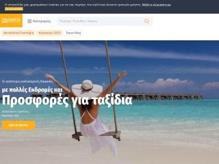 Screenshot για την ιστοσελίδα imaginationtravel.gr