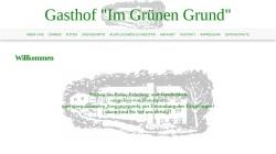 www.imgruenengrund.de Vorschau, Gasthof im Grünen Grund