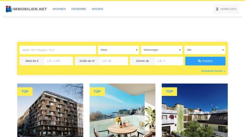 www.immobilien.net Vorschau, Immobilien.net