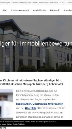 Vorschau der mobilen Webseite www.immobilienbewertung-nuernberg.de, Immobilienbewertung in Nürnberg, Erlangen, Fürth und Mittelfranken