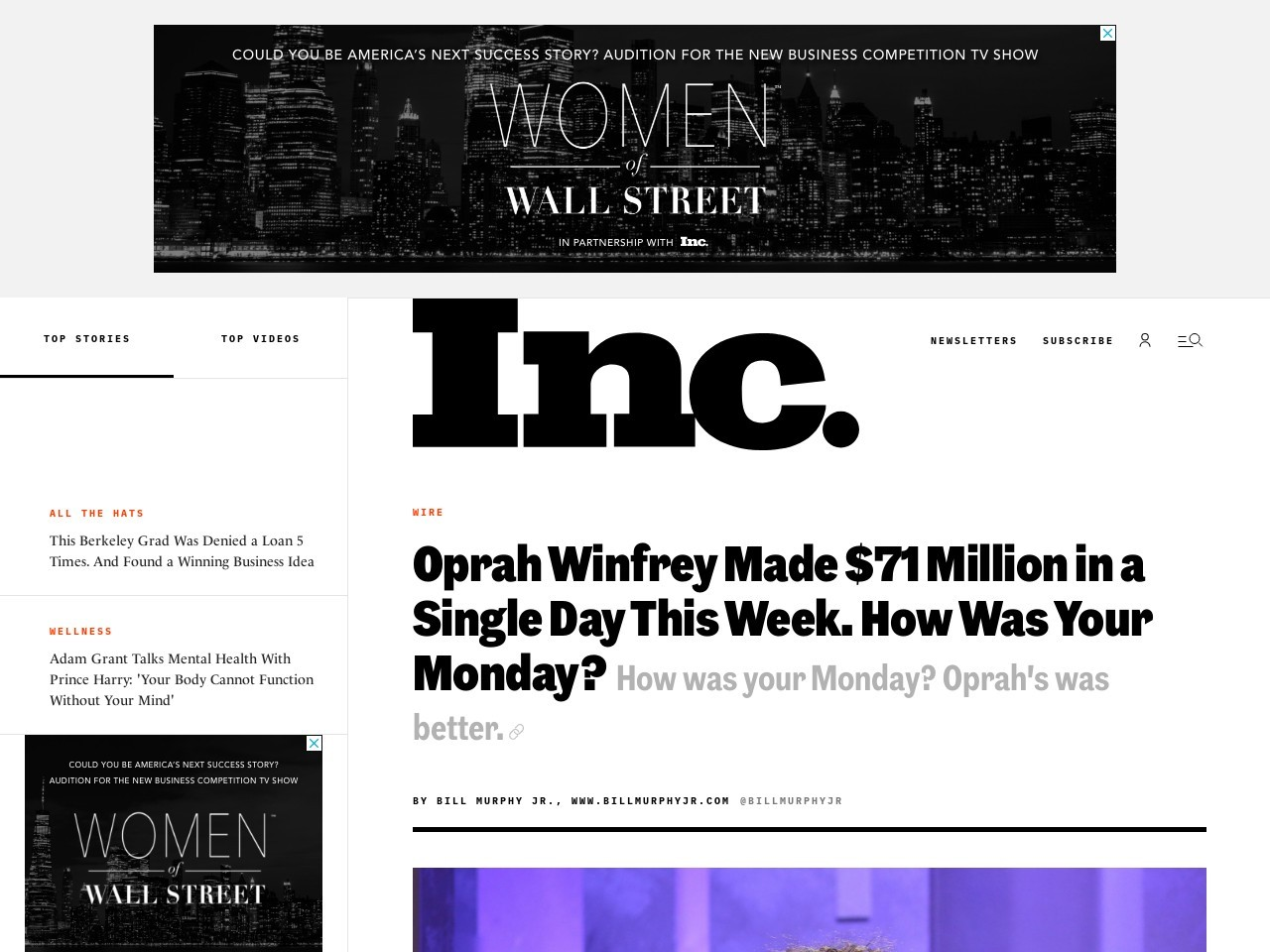 Oprah Winfrey Made $71 Million in a Single Day This Week (How Was Your Monday?)