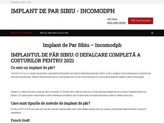Screenshot al site-ului incomodph.ro
