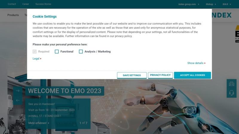 www.index-werke.de Vorschau, INDEX-Werke GmbH & Co. KG Hahn & Tessky