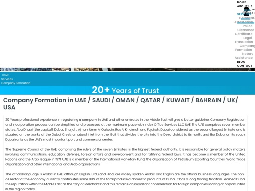 Company Registration in UAE – Index Office Services LLC