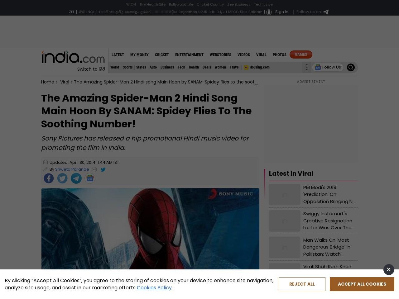 The Amazing Spider-Man 2 Hindi song Main Hoon by … – India