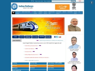 Screenshot for indianrailways.gov.in