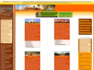Screenshot for indiantravel.co.in