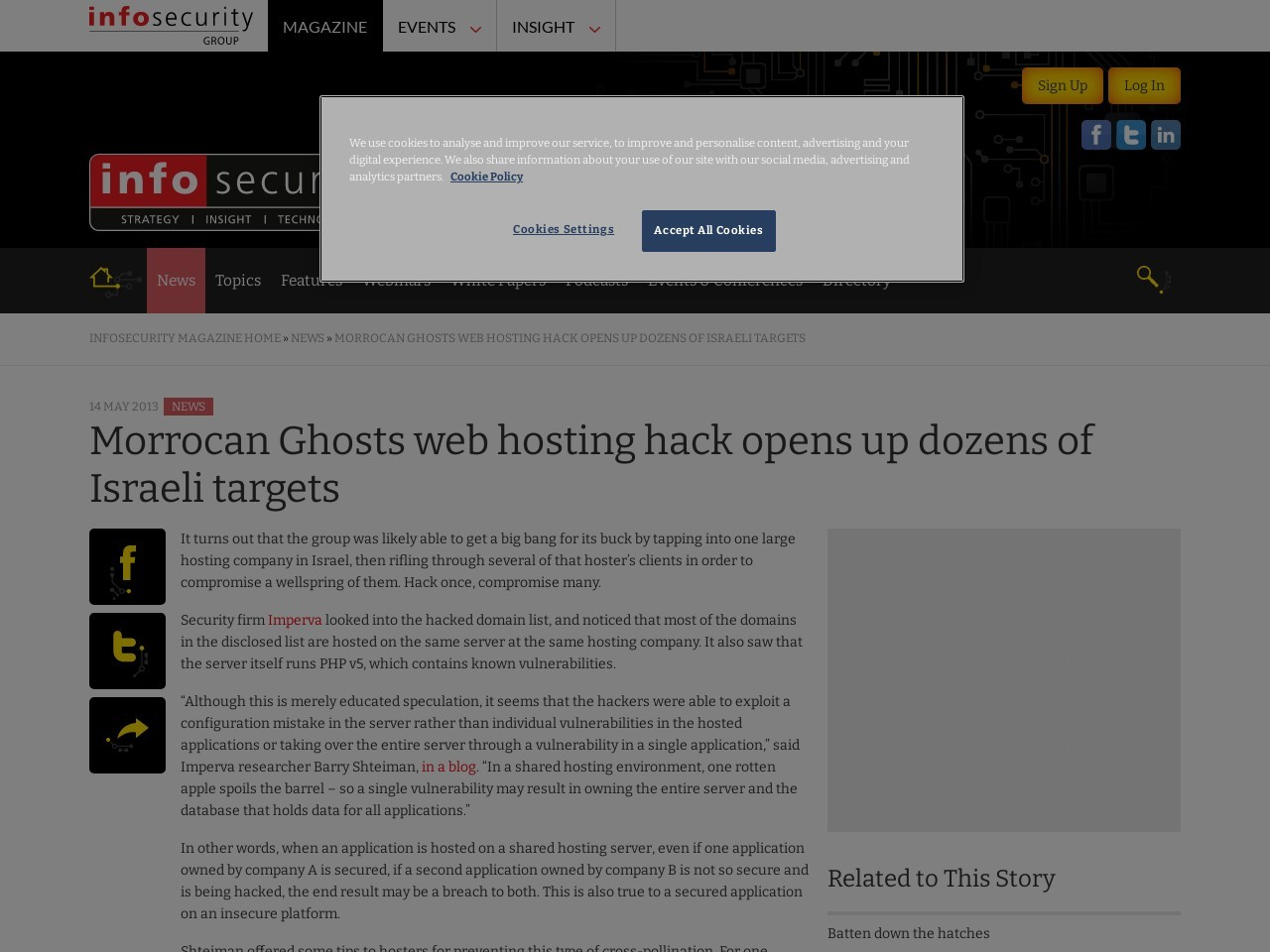 Morrocan Ghosts web hosting hack opens up dozens of Israeli targets