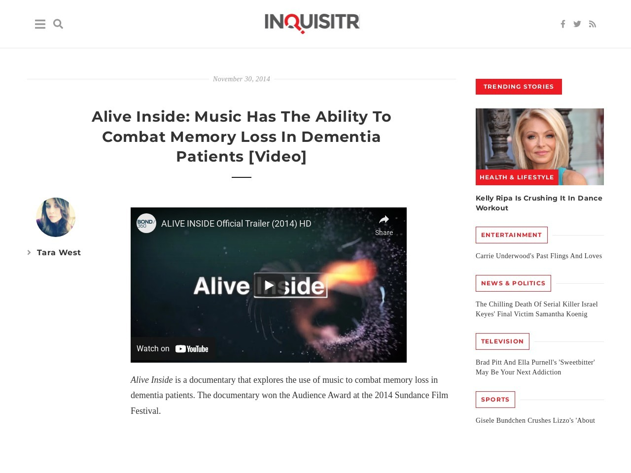 Alive Inside: Music Has The Ability To Combat Memory Loss In Dementia …