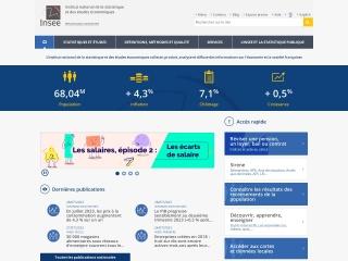 Capture d'écran pour insee.fr