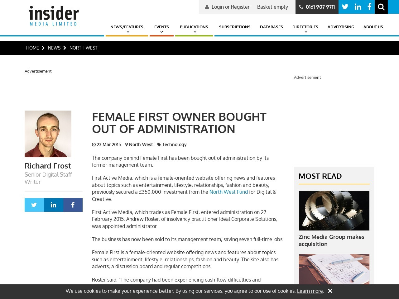 Female First owner bought out of administration