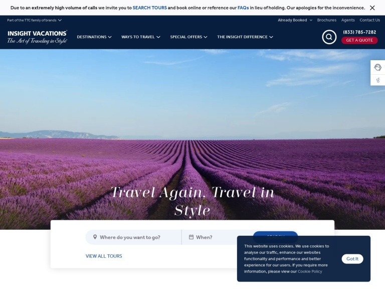 Insight Vacations screenshot