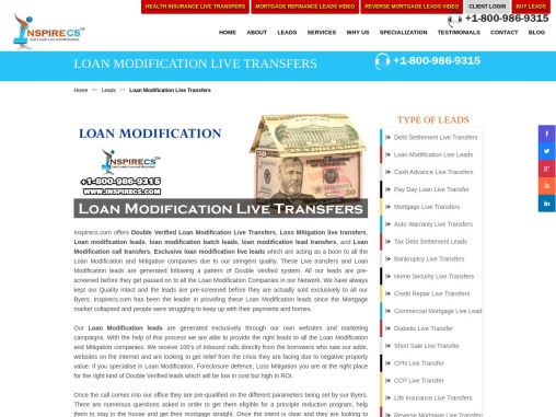 Loan Modification Live Transfers, Loan Modification Leads