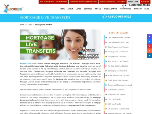 Mortgage Live Transfers, Mortgage Refinance Live transfers, Conventional Mortgage