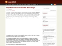 Important Factors of Minimal Web Design