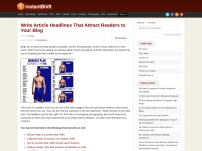 Write Article Headlines That Attract Readers to Your Blog