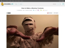 http://www.instructables.com/id/How-to-Make-a-Mummy-Costume/