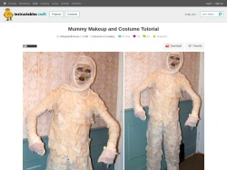 http://www.instructables.com/id/Mummy-Makeup-and-Costume-Tutorial/
