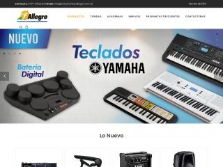 Captura de pantalla para instrumentosallegro.com.ve