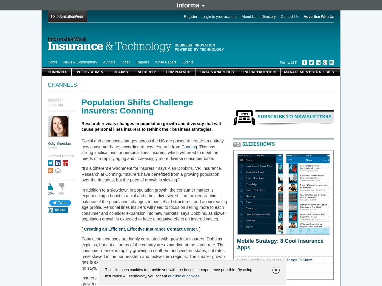 Population Shifts Challenge Insurers: Conning