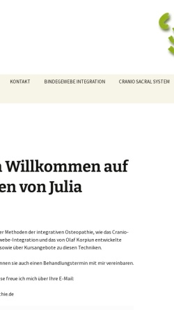 Vorschau der mobilen Webseite www.integrative-osteopathie.de, Dr. rer. nat. Olaf Korpiun