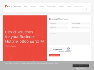 Screenshot der Website interdomain.at