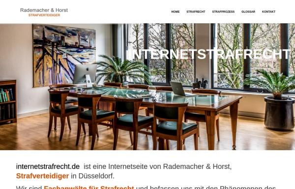 Vorschau von www.internetstrafrecht.de, Internetstrafrecht / Onlinestrafrecht