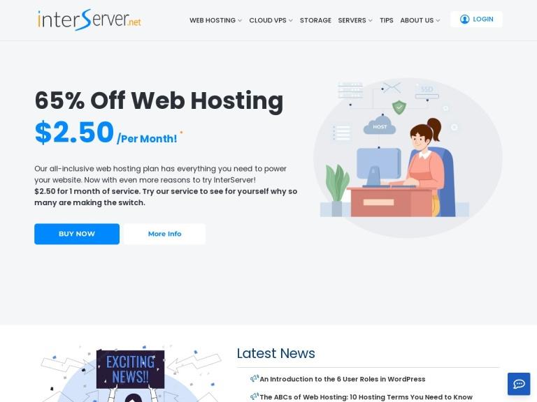 Interserver Coupon Codes screenshot