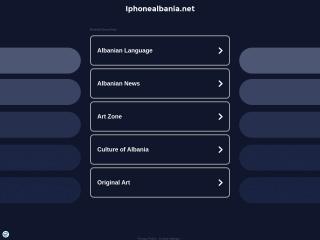Foto ekrani për iphonealbania.net
