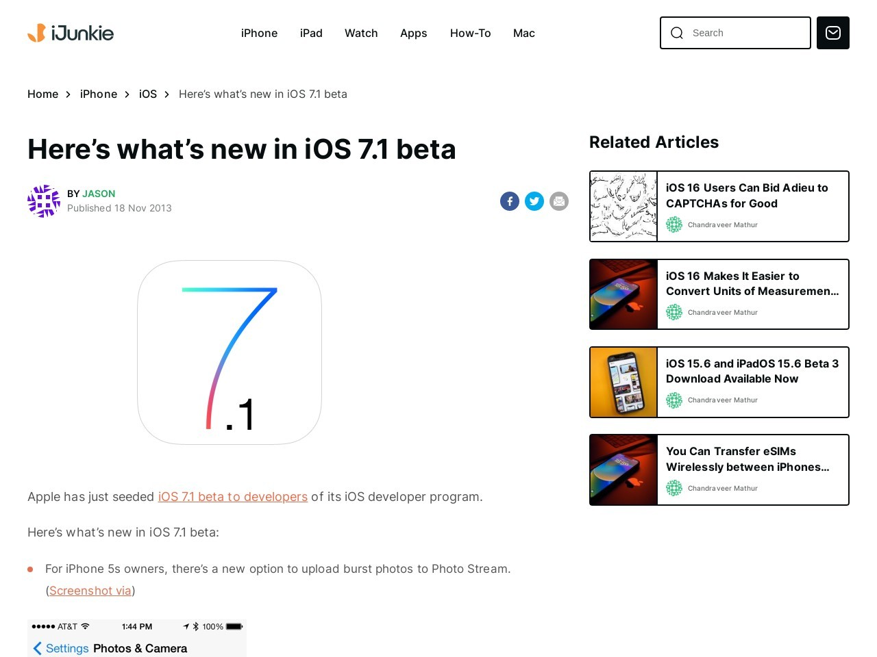 Here's what's new in iOS 7.1 beta – iPhone Hacks
