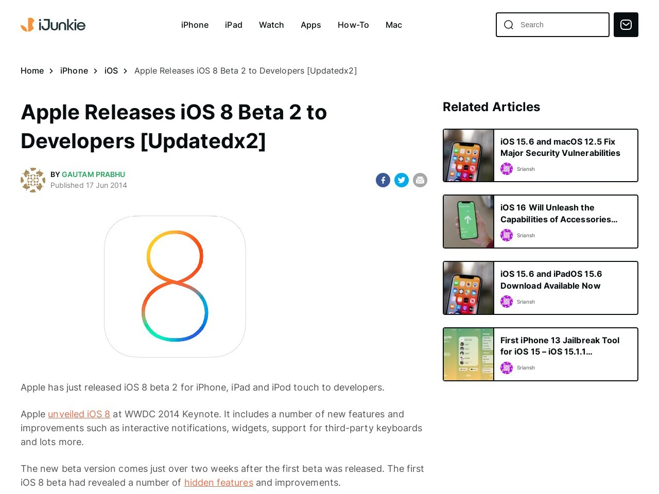 Download iOS 8 Beta 2 for iPhone, iPad and iPod touch
