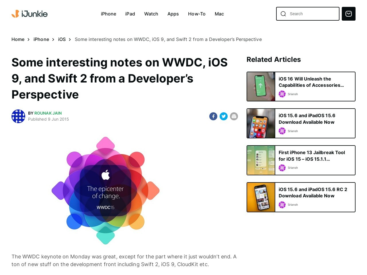Notes on WWDC, iOS 9, and Swift 2 from a Developer's …
