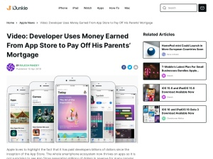 Video: Developer Uses Money Earned From App Store to Pay Off His Parents' Mortgage
