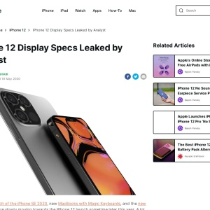 iPhone 12 Display Specs Leaked by Analyst