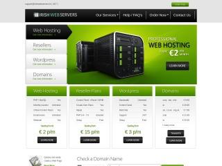 Screenshot for irishwebservers.ie