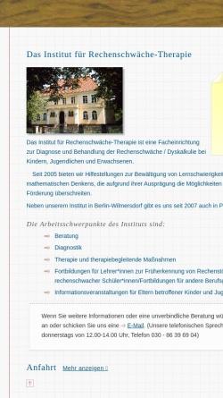 Vorschau der mobilen Webseite www.irtberlin.de, Institut für Rechenschwäche-Therapie Berlin