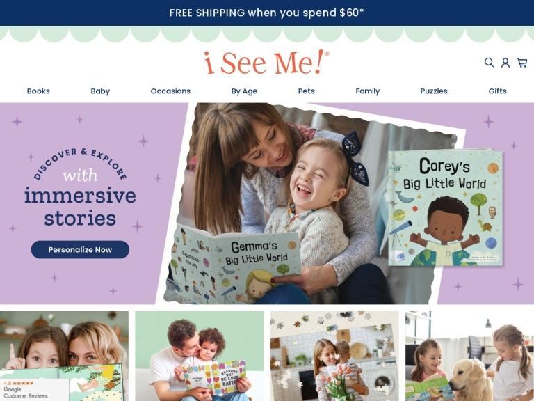 Www.iseeme.com Personalized Children's Books screenshot