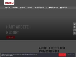 Skärmdump för isuzu-sverige.se
