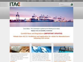 Screenshot for itac.org.za