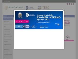 Captura de pantalla para itesg.edu.mx