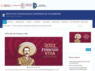 Captura de pantalla para itstacambaro.edu.mx