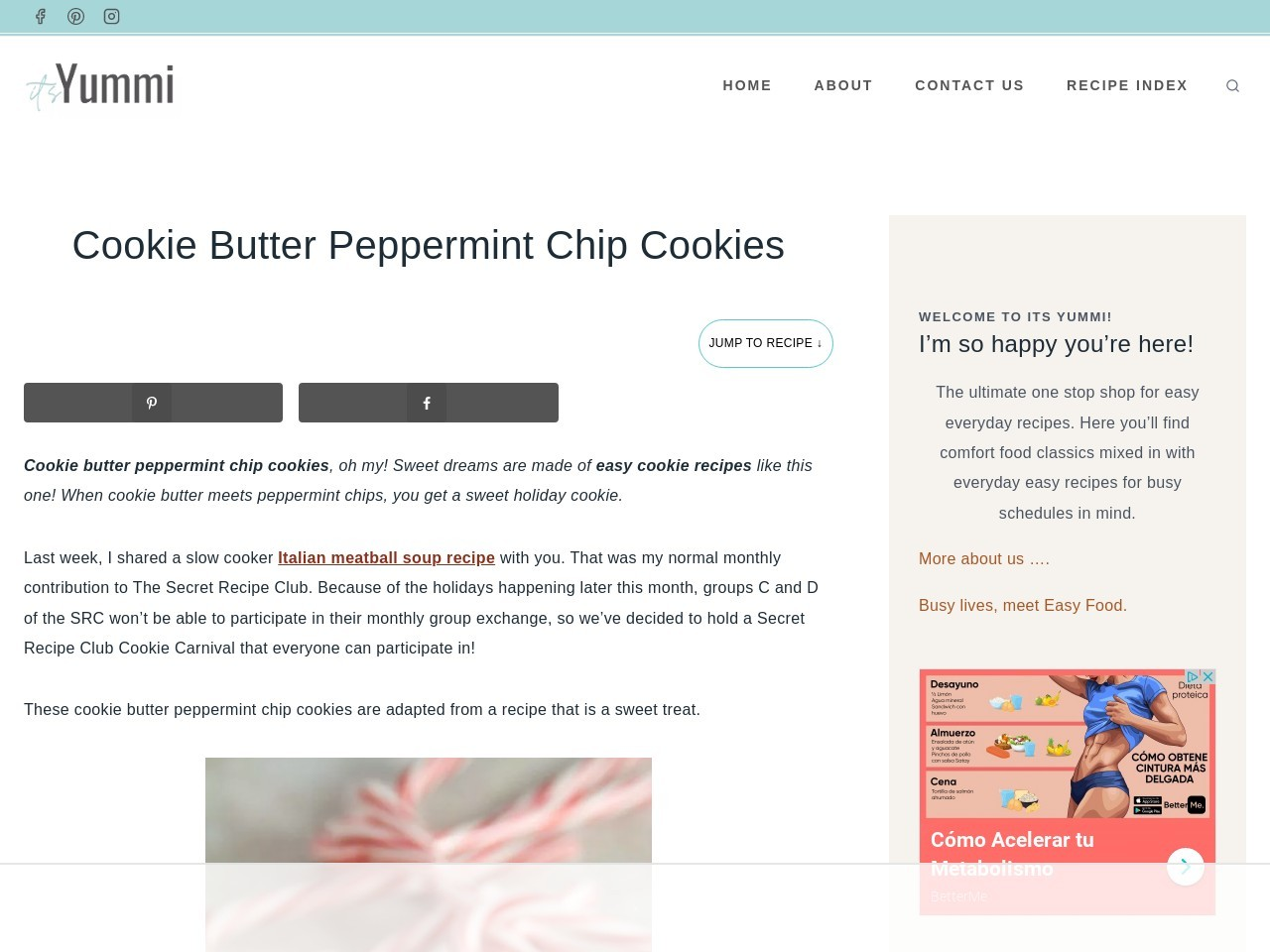 Easy Cookie Recipes: Cookie Butter Peppermint Chip