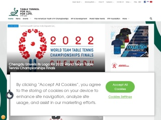 Screenshot for ittf.com