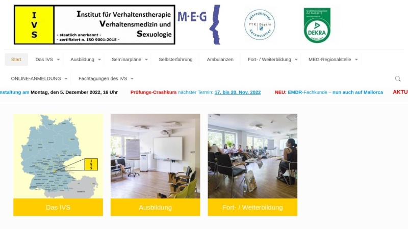 www.ivs-nuernberg.de Vorschau, Institut für Verhaltenstherapie, Verhaltensmedizin und Sexuologie