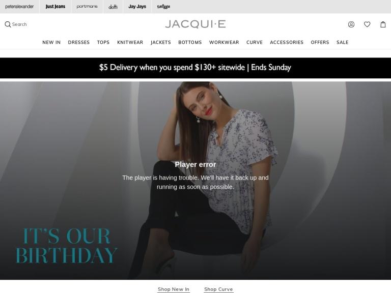 Jacqui E Coupon Codes